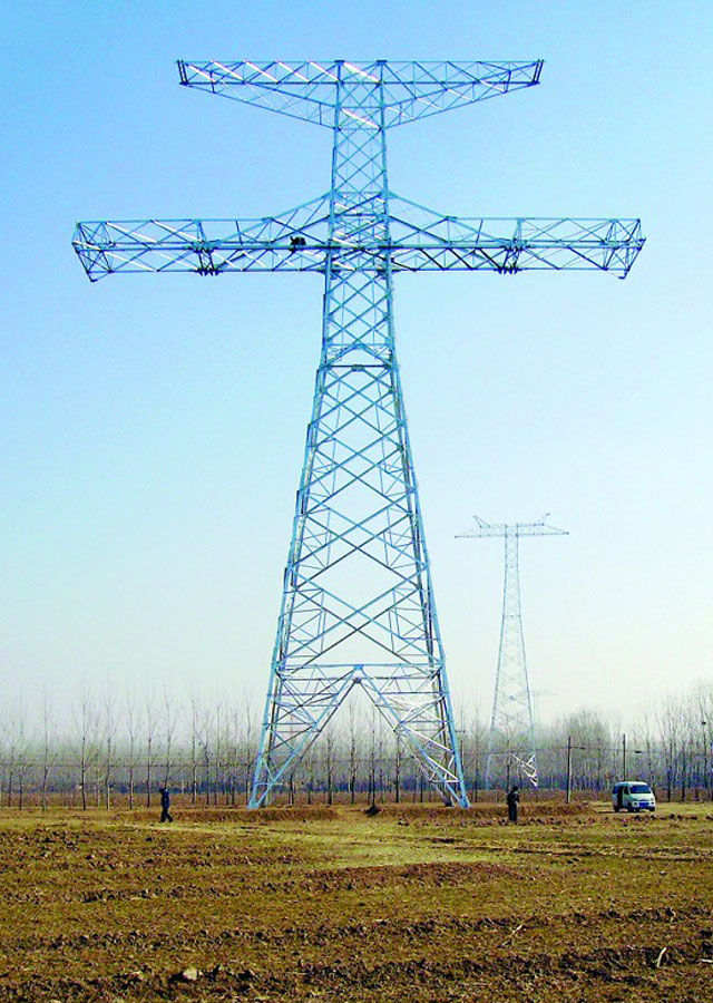 600KV-Transmission-Line-Towers-from-Ningdong-to-Shandong